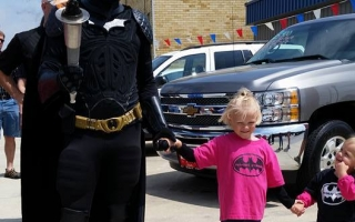 RaygenStrong & Batman at the 2015 Mercer County Ohio Relay For Life