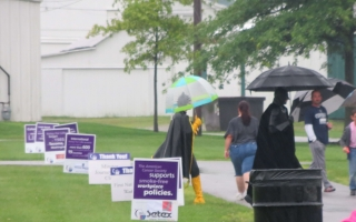 Hero Strong at 2015 Relay For Life of Auglaize County Ohio